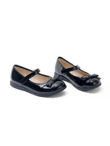 Cute Toddler Size 12 Bow School/Dress Shoes Black