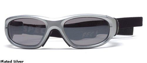 Rec Specs Protective Sports Eyewear- Maxx 21 - Plated Silver/ Silver Flash