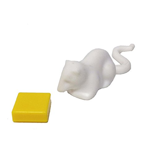 Lego Parts: Animal, Land - Rat with Cheese (Lego Halloween Moc)