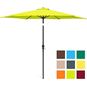 Best Choice Products 10ft Steel Market Outdoor Patio Umbrella w/ Crank, Tilt Push Button - Light Green