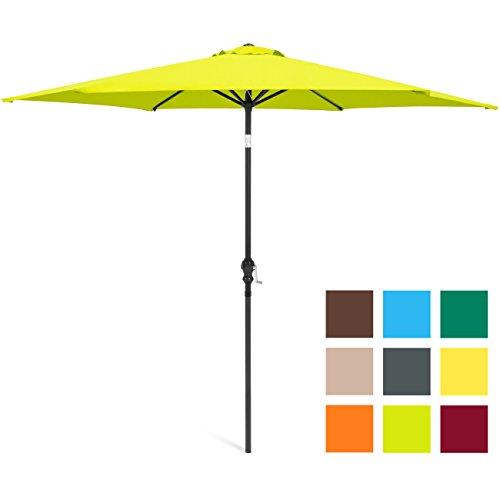 Best Choice Products 10ft Steel Market Outdoor Patio Umbrella w/Crank, Tilt Push Button - Light Green by Best Choice Products