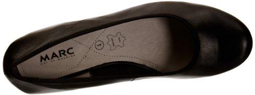 Marc Shoes 1.403.22-20/100-Cara 1.403.22-20/100 - Zapatos de tacón de cuero para mujer Negro (Schwarz (black 100))