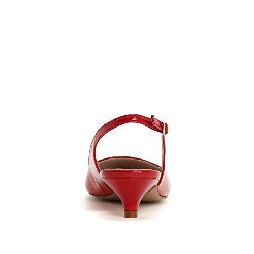 Tacco Rosso Cinturino in Vernice amp;Scarpe con Scarpe Scarpe Col Obsel IxBwFqHF