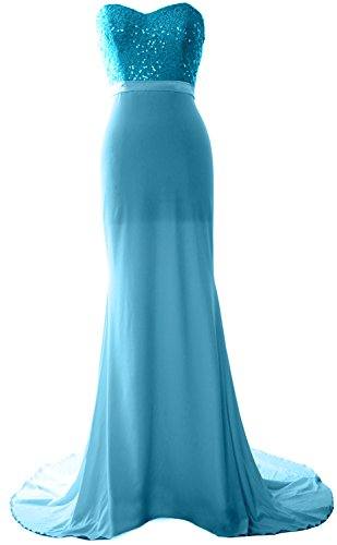 Dress Strapless Gorgeous Prom Long Mermaid MACloth Turquoise Sequin Jersey Bridesmaid Gown 4xUPdwqt