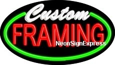 Custom Framing Flashing Neon Sign