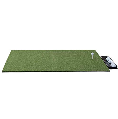 Dura-Pro Residential Golf Mat Premium Portable Turf. Includes Golf Tray and 3 Rubber Tees. Practice Hitting and Chipping Indoors or Outdoors Home Use, Backyard, As Seen On The Golf Channel (4x5 Feet)