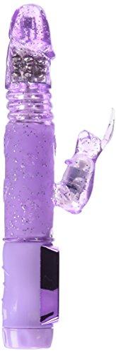 California Exotic Novelties Petite Thrusting Jack Rabbit Vibrator - Purple