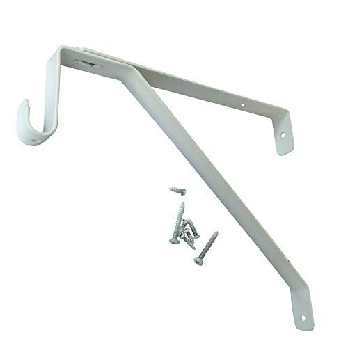 Adjustable Cleats (Desunia Oval Closet Rod Shelf Bracket - Adjustable for Rear Cleat Strip - White - 1 Pack)