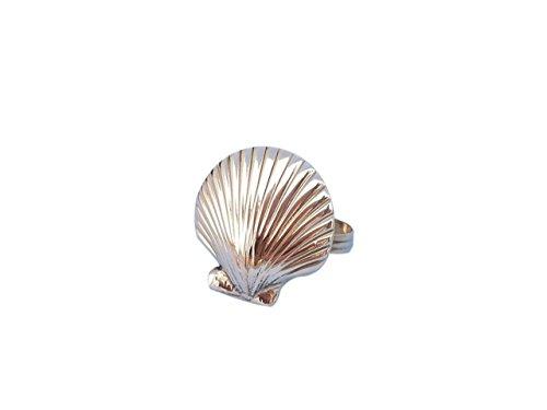Hampton Nautical NR-18-BR Brass Seashell Napkin Ring 2