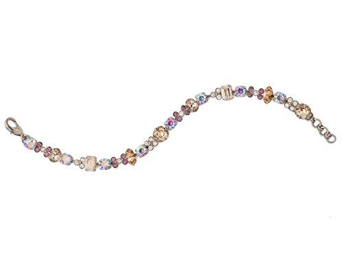 Sorrelli Clover Mirage Brown & Purple Swarovski Crystal Antique Silvertone Tennis Bracelet ()