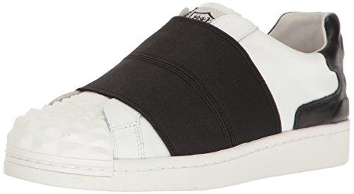 Ash Women's Clip Fashion Sneaker, Black/White, 37 EU/7 M US