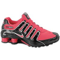 Nike Shox NZ Womens Running Shoes Black/Siren Red- White 314561-060-10