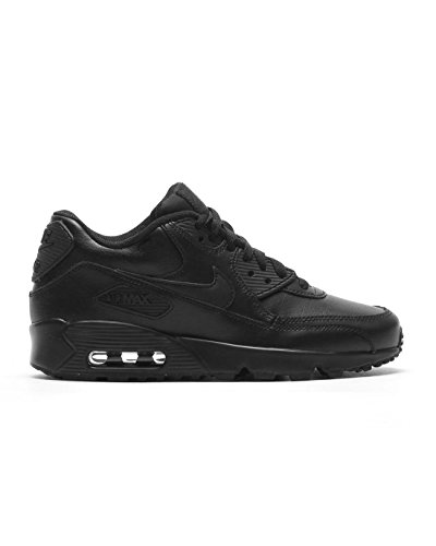 NIKE Air Max 90 LTR GS - 833412001 - Color Black - Size: 6.5 by NIKE