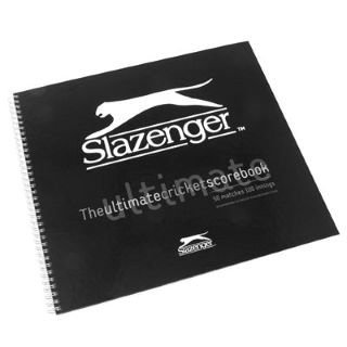 Slazenger Ultimate Cricket Scorebook Black - by Slazenger by Slazenger