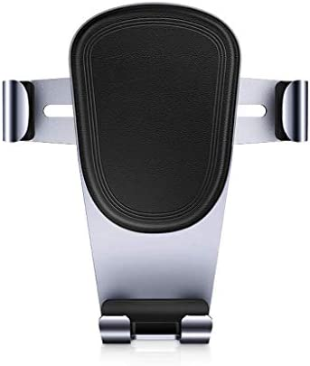 ブラックメタルアンドロイド車の電話ホルダー、安定した通気孔電話ホルダー車のホルダー360°調節可能iphone x 8 7 6 sプラス5 sギャラクシーS8 S7 S6とスマートフォンGPSスタンド