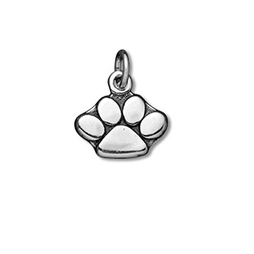 Sterling Silver Tiny Paw Print Mascot (Dog, Tiger, Panther) Charm Item #3549