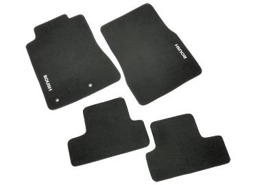 Mustang Embroidery (2010 Mustang 4pc Black Floor Mats with ROUSH Logo 421134)