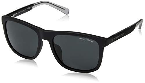 Armani Exchange Men's 0ax4049sf Non-Polarized Iridium Square Sunglasses, matte black, 53.0 ()
