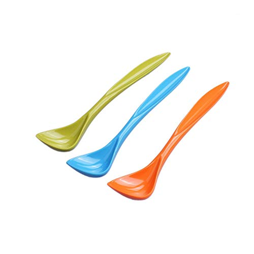 PetBonus 3-Pack Pet Food Can Spoon, Long Handle Special Curved Design for Dog Cat Can Spoon(Small)