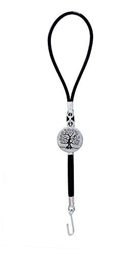 Bracelet fastener helper - Tree of Life in Silver and Black