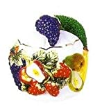 MIXED FRUIT Scouring/Brillo Pad Holder & Scour Pad ~NEW~
