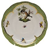 Herend Rothschild Bird Green Tea Saucer Motif #10
