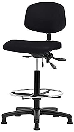 Enjoyable Thomas Vinyl High Bench Height Chair With Black Nylon Base Caraccident5 Cool Chair Designs And Ideas Caraccident5Info