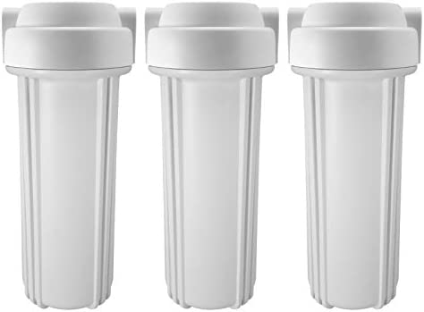 Express Water White Double O Ring Standard 10 Filter Housing for RO Reverse Osmosis System – 3 Pack