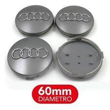 Juego 4 Tapacubos para Audi, A1, A3, A4, A5, A6,