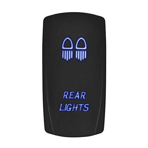 LED Backlit Rocker Switch,Eyourlife Toggle Switch Spst Rear