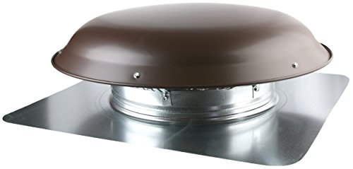 Ventamatic VX25 BRNUPS Static Galvanized Steel Dome and Flange Roof Vent, - Exhaust Roof