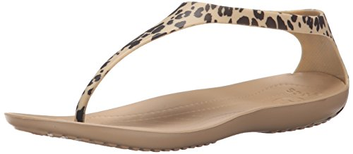 W Flop Gold Sexi Flip Leopard Print Women's Crocs IYqqA
