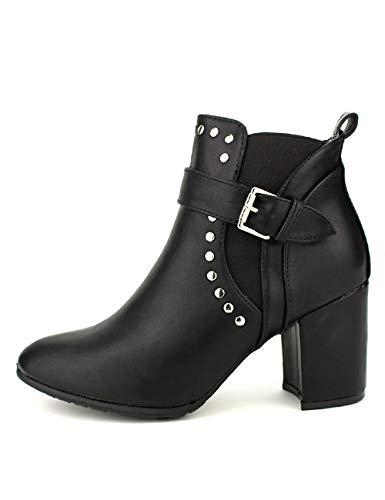 Clous Noire Noir Mee Bottine Cendriyon Cink Chaussures Femme pgFx7Fqvw
