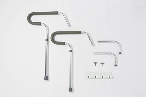 Medline's Guardian Toilet Safety Rail with adjustable height for bathroom safety, toilet assist, and grab bar by Medline (Image #3)