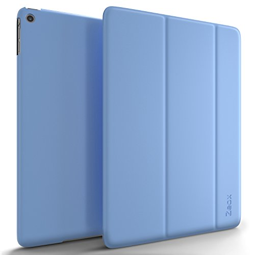 iPad Air Case, Zeox iPad Air Ultra Slim Fit Folio Smart Case Cover Stand Non Slip Protective Cover with Auto Wake/Sleep Feature for Apple iPad Air Retina Display 2013 Release - Blue by ZEOX