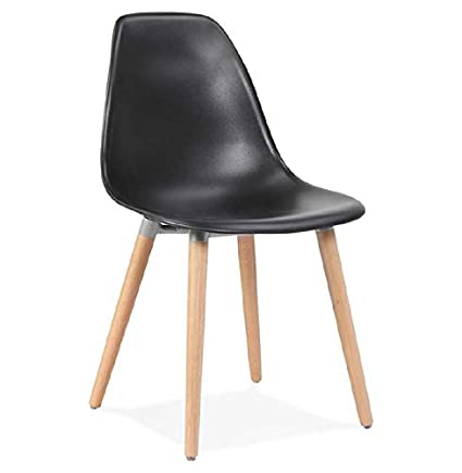 Sedie Design Svedese.Mk Sedia Design Scandinavo Angelina Nero Amazon It Casa