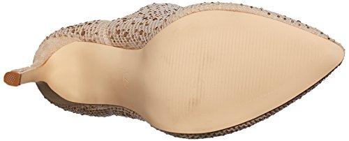 Qupid Sock Champagne Fashion Women's Bootie Boot Pr4P1