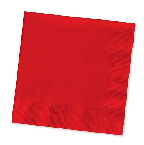 Creative Converting 251031 2 Ply Beverage Napkins Bulk Classic Red 1200 Counts