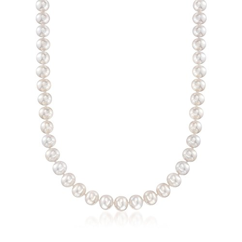 Ross-Simons 8-8.5mm Cultured Pearl Necklace With 18kt Yellow Gold
