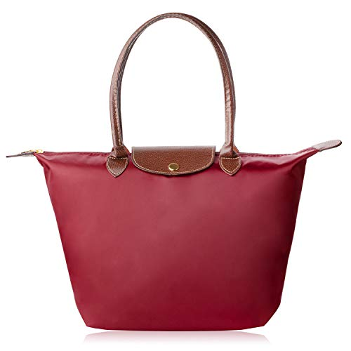 Laptop Tote Bag, Fits 15 Inch Nylon Waterproof Laptop Tote Bag/Nylon Travel Shoulder Tote Bag (RED)