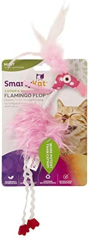 SmartyKat Flamingo Flop Feathered Catnip and Silvervine Cat Toy 2