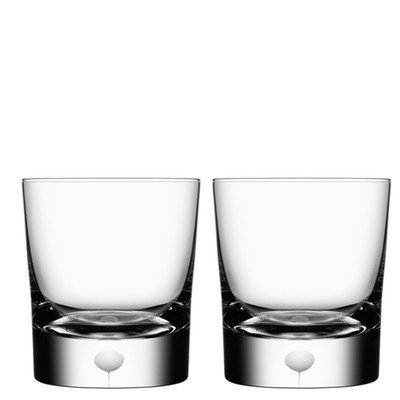 Orrefors Intermezzo Satin 8.33 Ounce Old Fashioned/Whiskey Glass, Set of 2