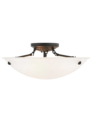 Livex Lighting 4274-07 Oasis 3-Light Ceiling Mount, Bronze ()