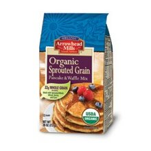 Arrowhead Mills Sprouted Pancake - Organic Sprouted Pancake and Waffle Mix 26 Ounces (Case of 6)