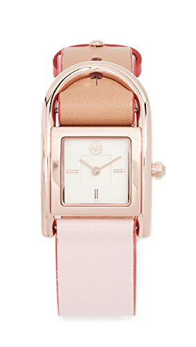 (Tory Burch Women's Thayer Watch, 25mm, Pink/Brown, One Size)