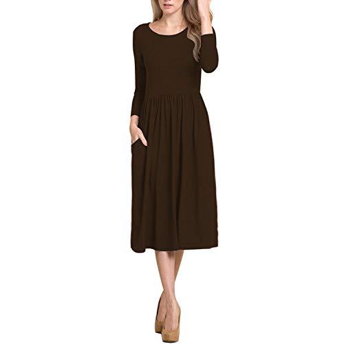 Cheryl Bull Fancy Women's Long-Sleeved fold WaisPockeLong Dress,X-Large,Gray (Fancy Dress Ideas For Girl In India)