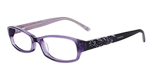 BEBE Eyeglasses BB5063 519 Purple Crystal 52MM