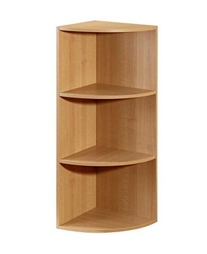 Maple Stackable Storage Organizer - Corner Shelf Organizer, Maple