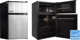 MicroFridge-Refrigerator-True-Freezer-Combo-Appliance-Stainless-Steel-31-cu-ft