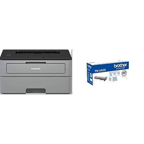 Brother HLL2310D - Impresora láser monocromo dúplex + Brother TN-2420 Laser cartridge 3000 páginas Negro tóner y cartucho láser